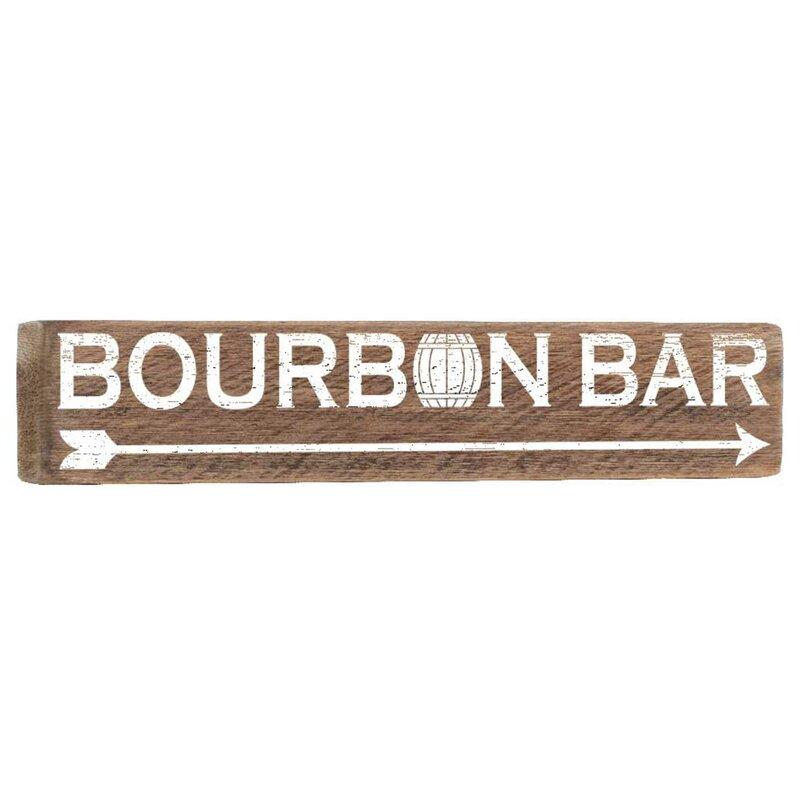 Williston Forge Bourbon Bar Wall Décor | Wayfair
