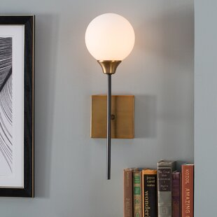 Sconces youll love wayfair bautista 1 light wall sconce aloadofball Choice Image