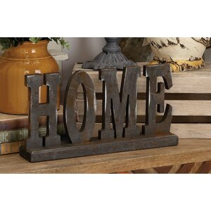 Wood Table Top Home Letter Block