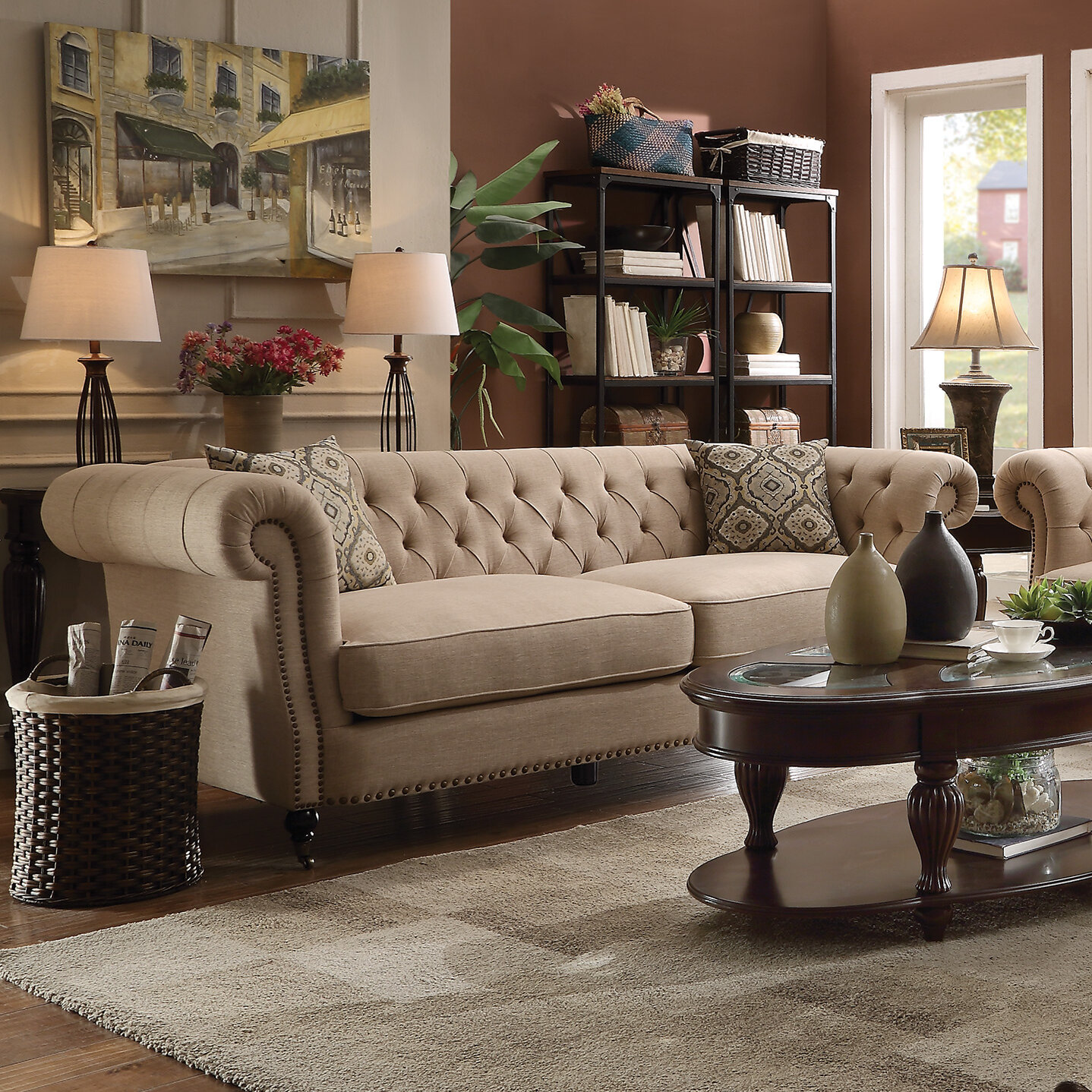 Darby Home Co Foreside Chesterfield Sofa & Reviews | Wayfair