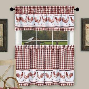 Kitchen Rooster Curtains | Wayfair