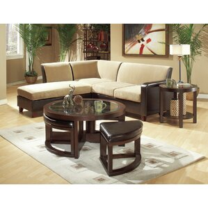 3219 Series Coffee Table with 4 Ottomans by ..