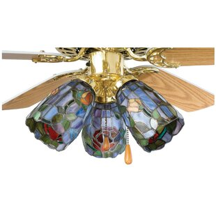 Tiffany 4 Gl Bowl Ceiling Fan Er Shade