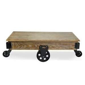 Glaucio Wood Coffee Table by 17 Stories