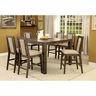 Livingon 7 Piece Counter Height Extendable Dining Set