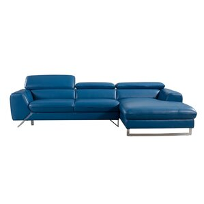 Conduit Avenue Leather Reclining Sectional by Orren Ellis