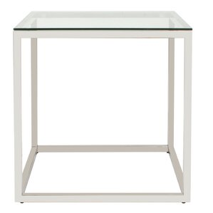 Rossi Square Stainless Steel End Table by Brayden Studio