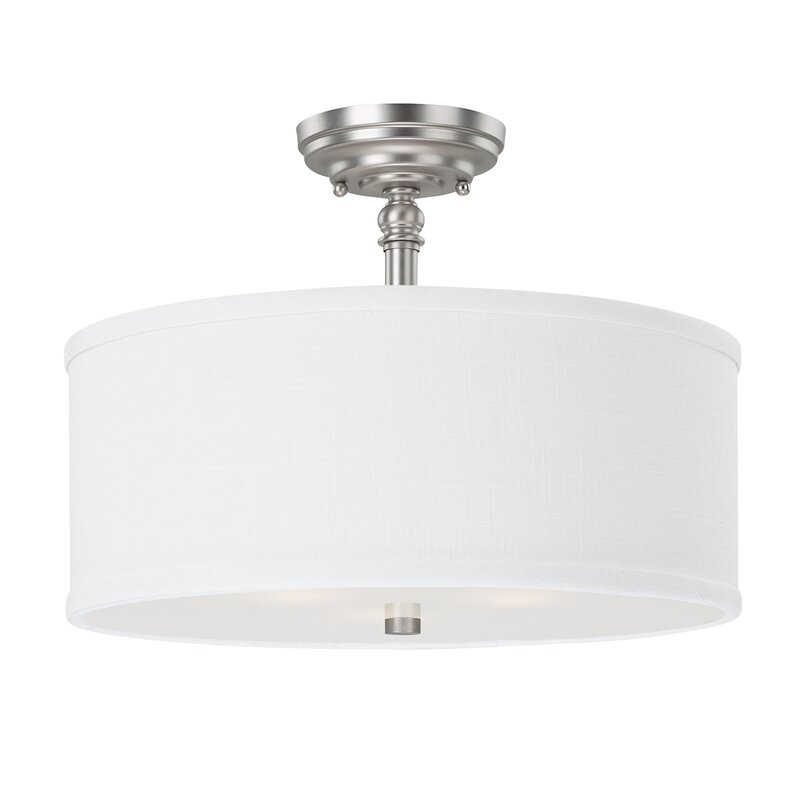 Decosta 3 light semi flush mount