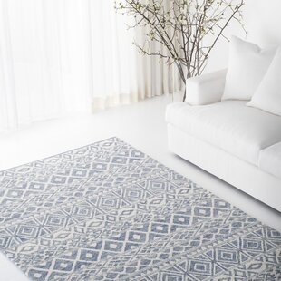 Theresa Hand Tufted Wool Ivory Blue Area Rug By Lauren Ralph