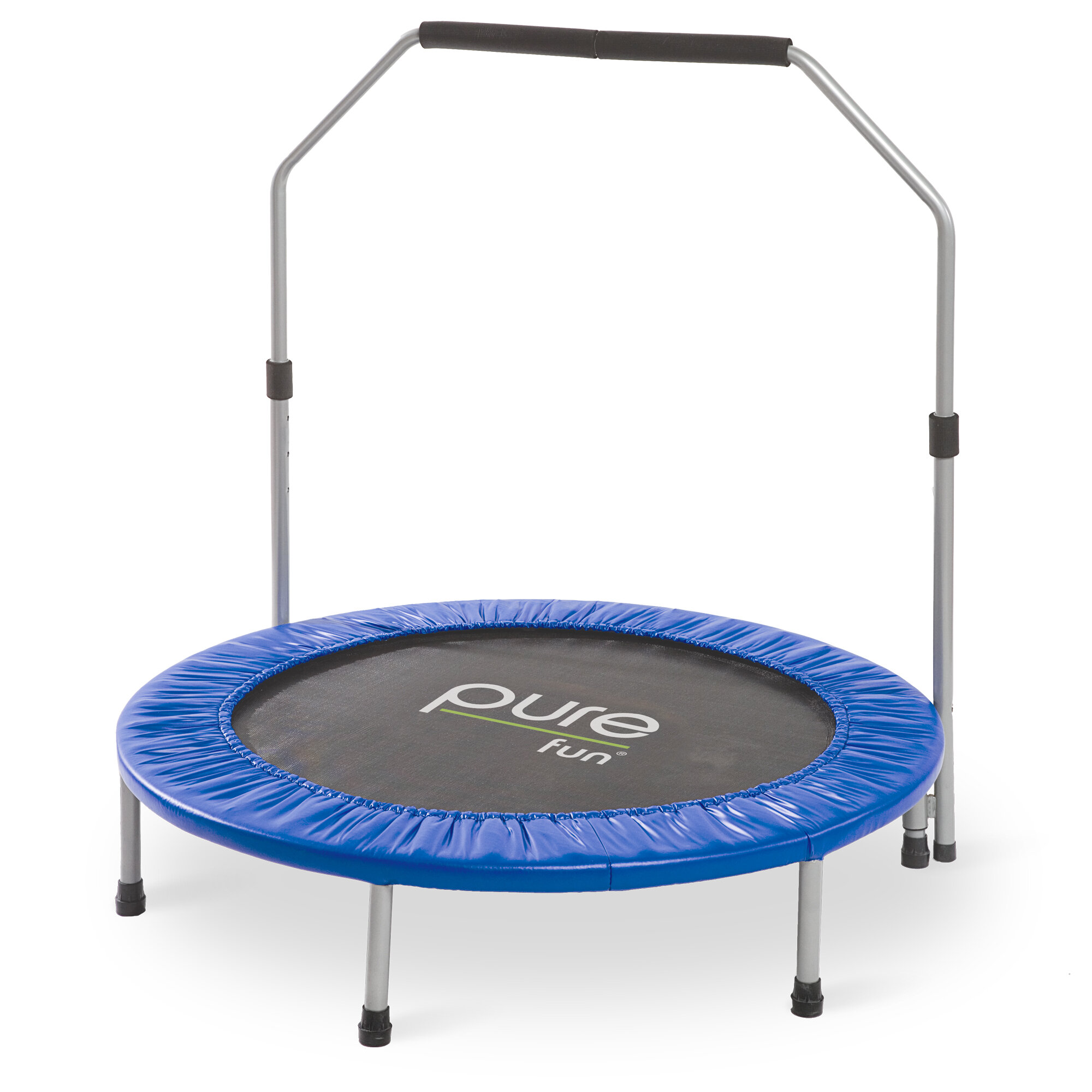 pure fun exercise 40 round trampoline with handlebar reviews