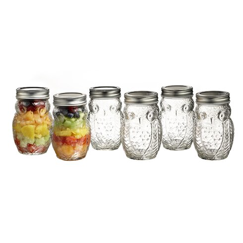Style Setter Owl 6 Piece Storage Jar Set Wayfair
