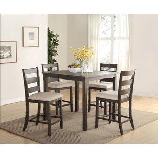 Keesler 5 Piece Counter Height Dining Set