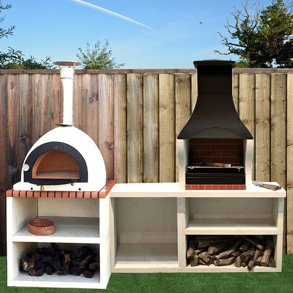 Outdoor Kitchen Units Uk: Wildon Home Napoli Outdoor Kitchen Combo BBQ And Wood