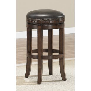 Bulwell 26 Swivel Solid Wood Bar Stool
