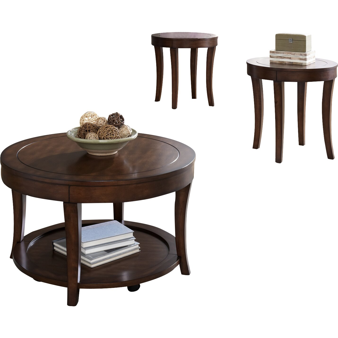 darby home co locke 3 piece coffee table set reviews. Black Bedroom Furniture Sets. Home Design Ideas