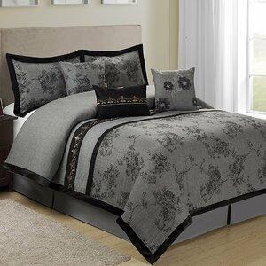 Shastai Floral 7 Piece Comforter Set