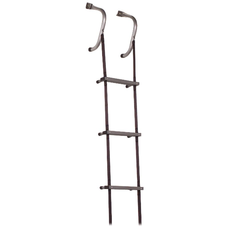24 ft Steel Escape Ladder with 375 lb. Load Capacity