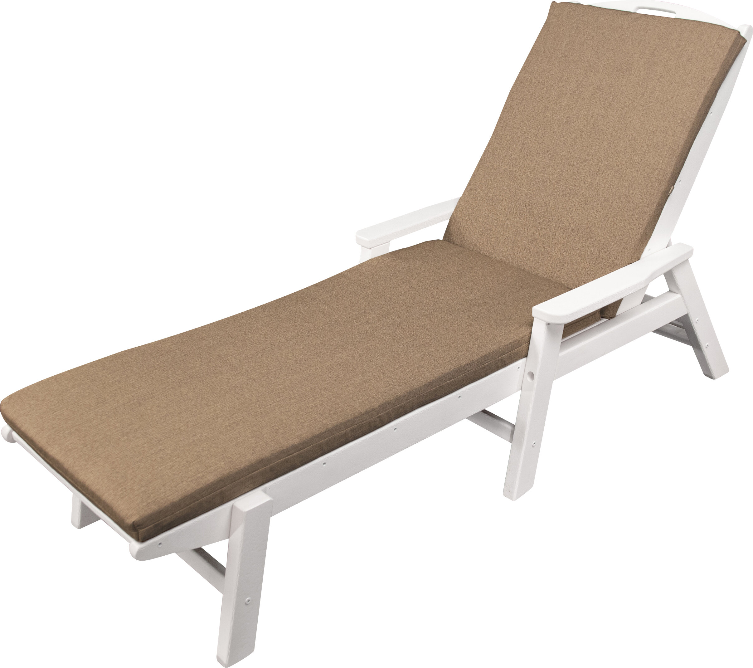 Ateeva outdoor sunbrella chaise lounge cushion wayfair for Bathroom chaise lounge