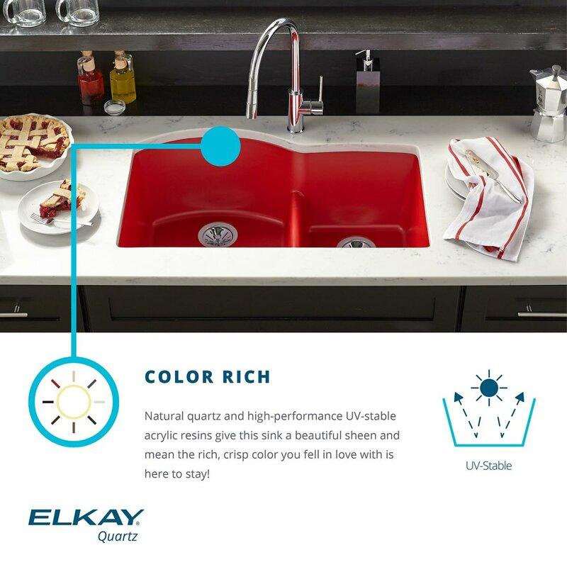 quartz luxe 25   x 19   undermount kitchen sink elkay quartz luxe 25   x 19   undermount kitchen sink  u0026 reviews      rh   wayfair com