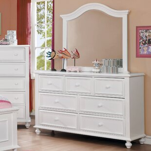 Eliot Traditional 7 Drawer Dresser With Mirror