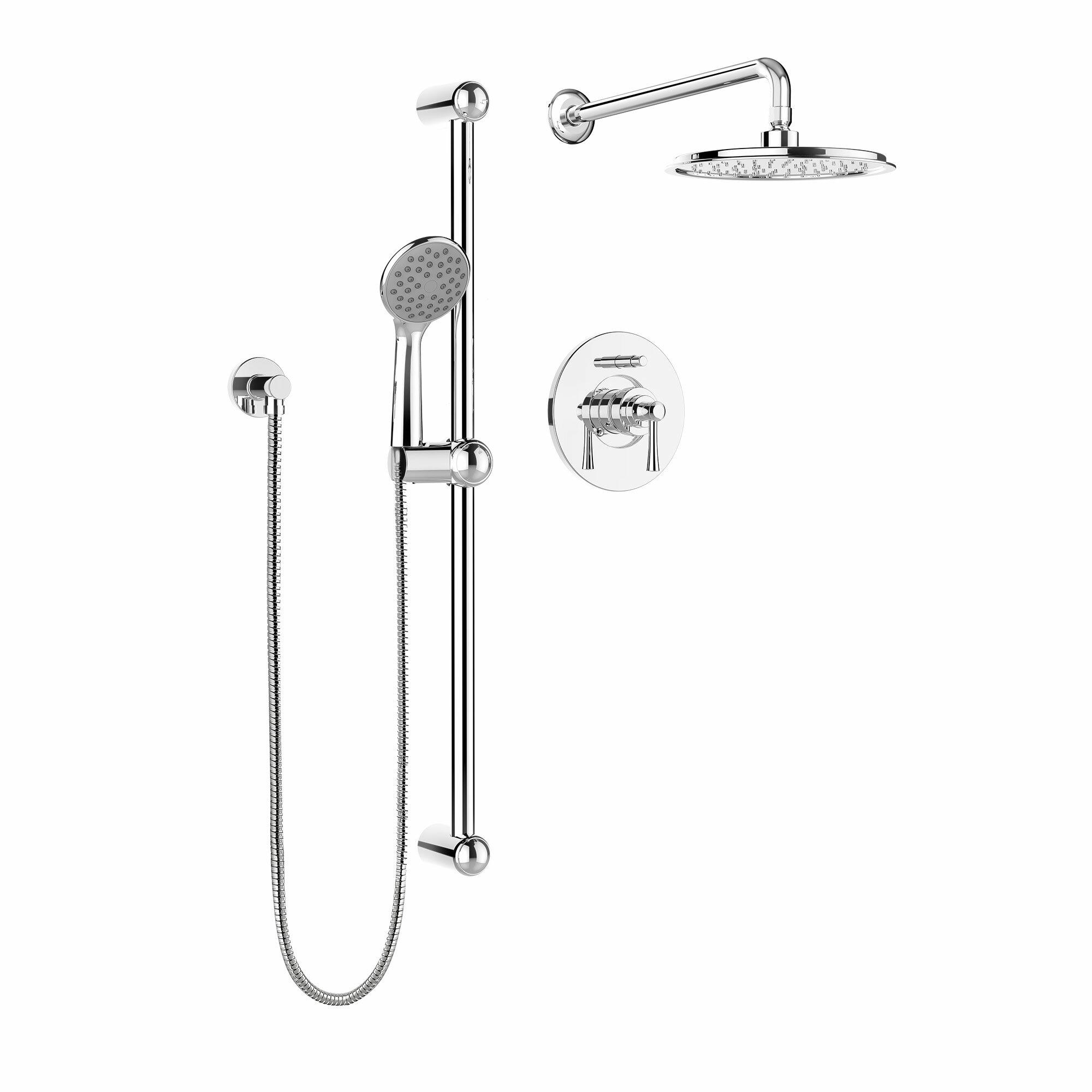 KIT NEO130CCP Belanger Pressure Balanced Diverter Dual Shower Head Complete  Shower System