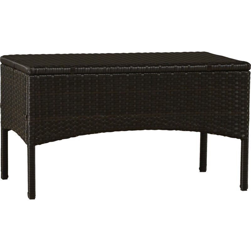 Lauer 4 Piece Rattan Sofa Seating Group With Cushions
