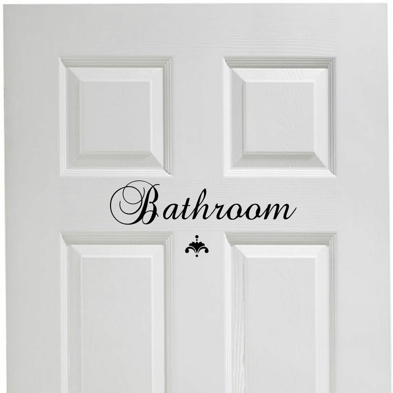 Bathroom Door Decal