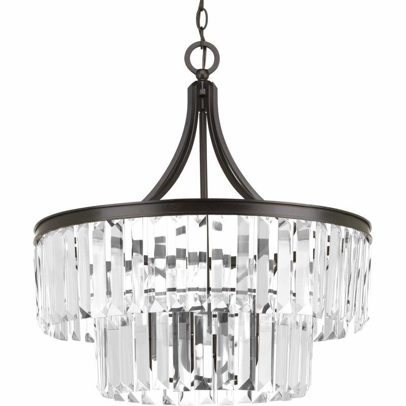 Eggar 5 light crystal chandelier