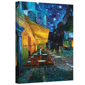 cafe terrace at nightu0027 by vincent van gogh framed graphic art print on canvas