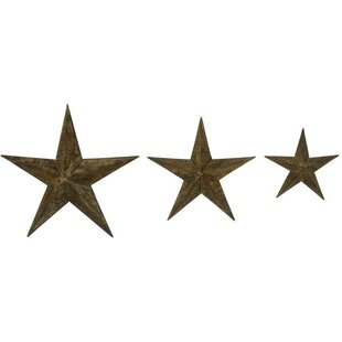 Exceptionnel 3 Piece Metal Star Wall Décor Set