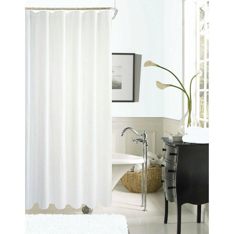 Zella Hotel Waffle Shower Curtain
