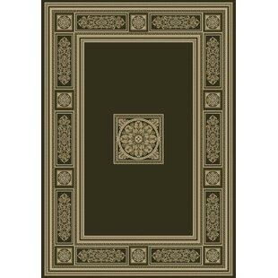 Da Vinci Black Gold Area Rug