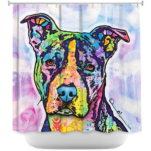 Illustrious Pitbull Dog Shower Curtain