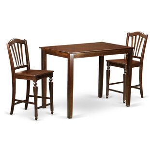 Yarmouth 3 Piece Counter Height Pub Table Set