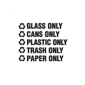 Recyclable Waste Decals (1