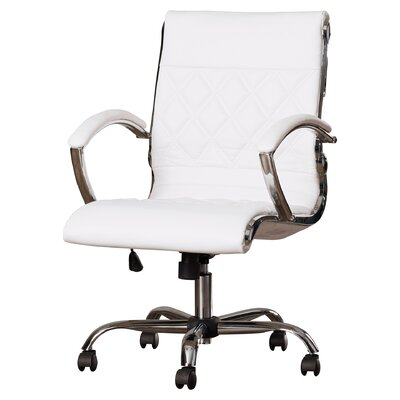 Brayden Studio Camp Mabry Coast Conference Chair Upholstery Color: White