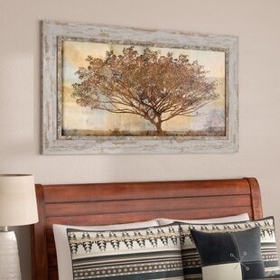 fea131d20bf  Autumn Radiance Sepia  Framed Painting Print on Wood