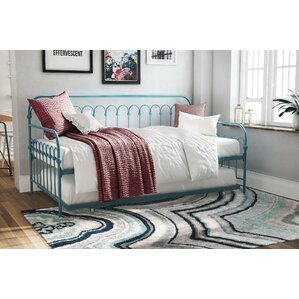 Bright Pop Metal Daybed with Trundle b..