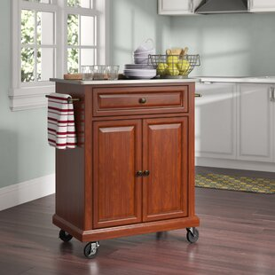 Hedon Kitchen Cart with Stainless Steel Top