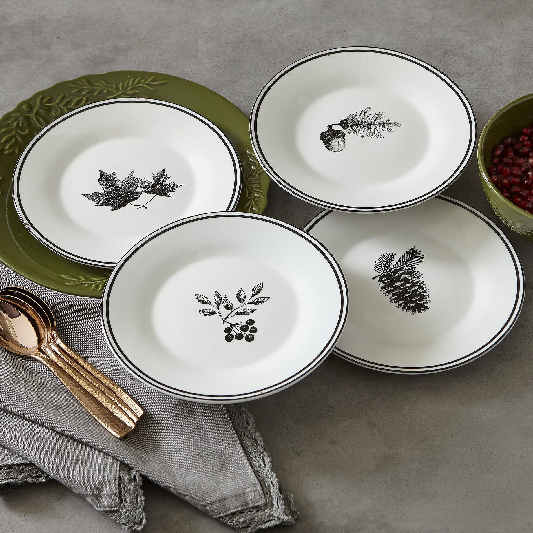 & Birch Lane™ Autumn Salad Plates u0026 Reviews | Wayfair