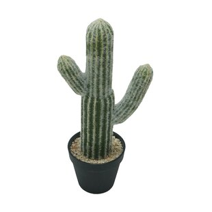 Potted Faux Cactus Plant In Pot