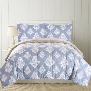 Moton Printed Down Alternative Reversible Comforter Set