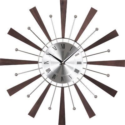 Wrought Studio Rowley 19.25 Spindle Wall Clock