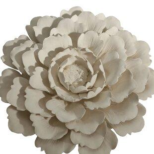3 Porcelain Flower Wall Décor