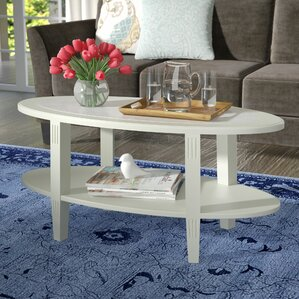 Versailles Coffee Table with Magazine Rack b..
