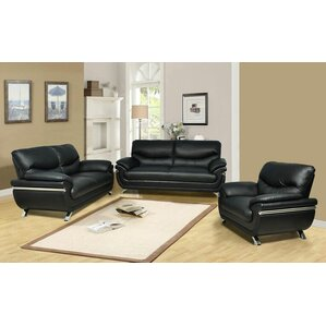 Liam 3 Piece Living Room Set by Beverly Fine..