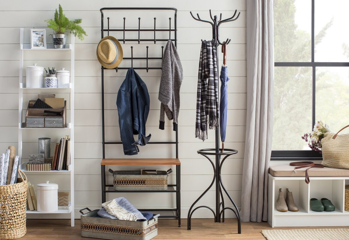 Foyer Organization Furniture : Honey can do entryway storage hall tree reviews wayfair