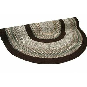 Beantown Baked Beans Round Tan/Brown Area Rug