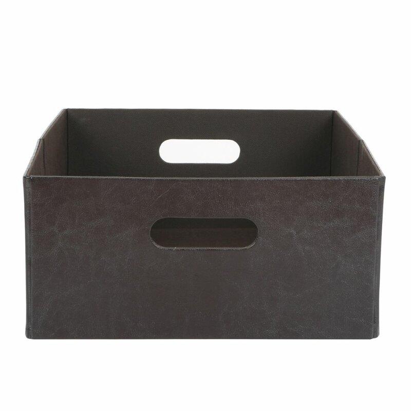 Charmant Faux Leather Storage Bin