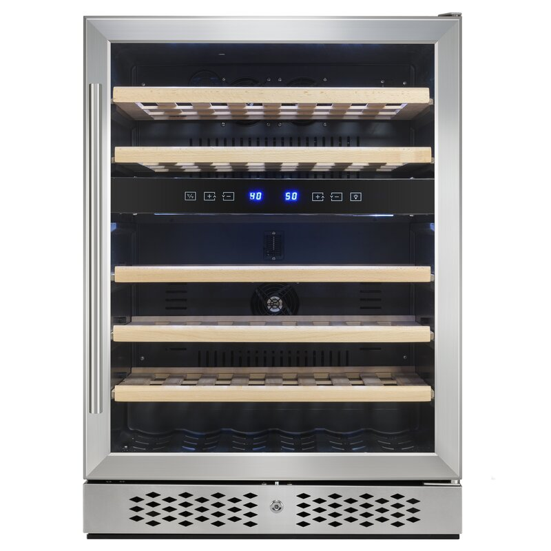AKDY 46 Bottle Dual Zone Built-In Wine Cooler